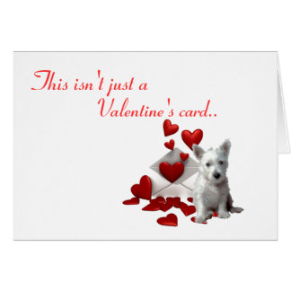 Westie Valentine, Be Mine Card