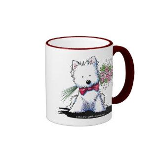 Westie Valentine Prince Mug Ringer Mug