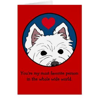 Westie Valentine Whole Wide World Greeting Card