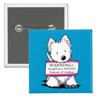 Westie Vital Signs NAUGHTINESS Buttons