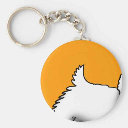 Westie Wag Key Chain