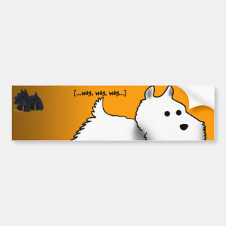 Westie, (...wag, wag, wag...) bumper sticker