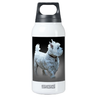 WESTIE WATCHING INSULATED WATER BOTTLE