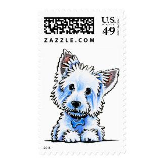 Westie Wesley Postage Stamp