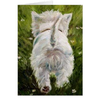 Westie West Highland Terrier Card