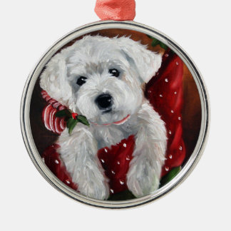 Westie west highland terrier christmas ornament