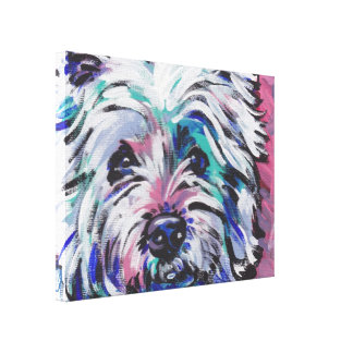 westie west Highland Terrier colorful Pop Art Canvas Print