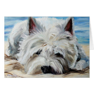 Westie West Highland Terrier Dog - Beach Bum Card
