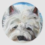 Westie West Highland Terrier Dog Beach Bum Sticker