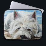 "westie West Highland Terrier Dog Laptop Case<br><div class=""desc"">Mary Sparrow Smith&#39;s whimisical pet paintings add some fun to your laptop case! A perfect gift for the dog lover in your life.</div>"