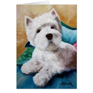 Westie West Highland Terrier Dog Puppy Art Card