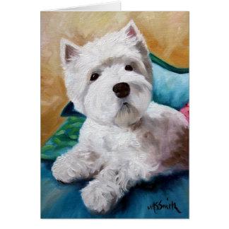 Westie West Highland Terrier Dog Puppy Art Greeting Card
