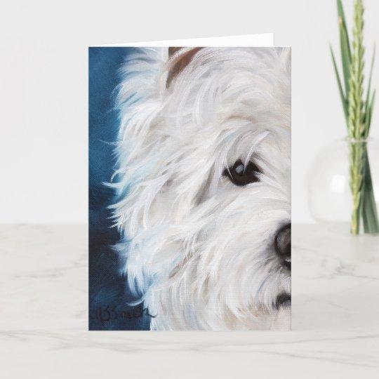 Westie//West Highland Terrier Dog Sympathy Card