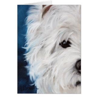 Westie West Highland Terrier Eye See You Greeting Card