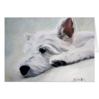 Westie West Highland Terrier Like an Angel Card