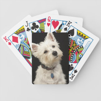 Westie (West Highland terrier) with collar Bicycle Playing Cards