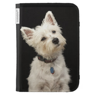 Westie (West Highland terrier) with collar Kindle Keyboard Cases