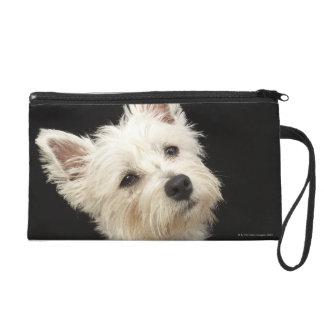 Westie (West Highland terrier) with collar Wristlet Purse