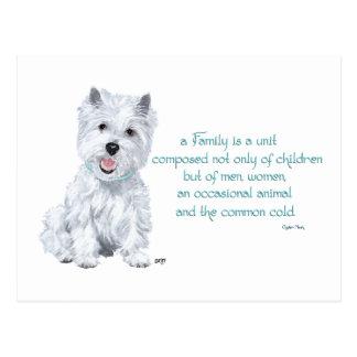 Westie Wisdom - Family Dynamics Postcard