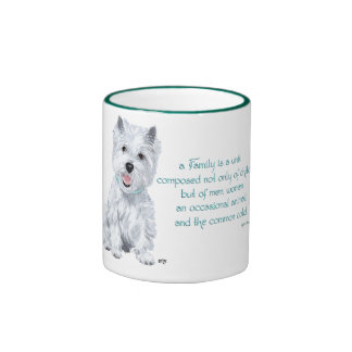 Westie Wisdom - Family Dynamics Ringer Mug