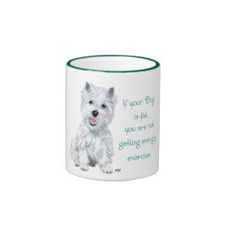 Westie Wisdom - Fat Dog? Ringer Mug