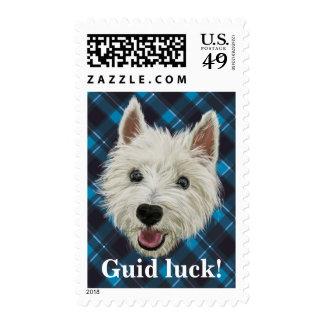 Westie Wisdom. Guid Luck Postage