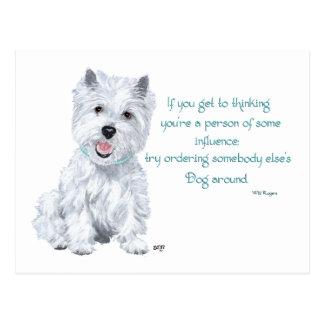 Westie Wisdom - Influential? Postcard