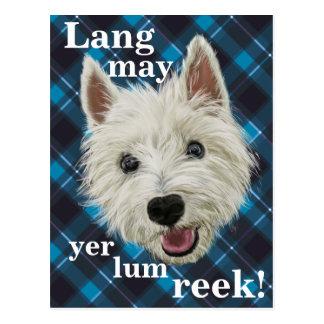 Westie Wisdom. Lang may yer lum reek! Postcard