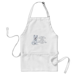 Westie Wisdom - Wagging Tail or Tongue? Adult Apron