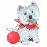 Westie with a Red Ball Photo Cutouts