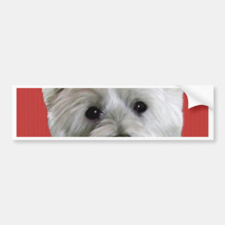 WESTIE WITH A ROSE FOR YOU BUMPER STICKER