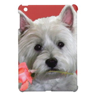 WESTIE WITH A ROSE FOR YOU iPad MINI CASES