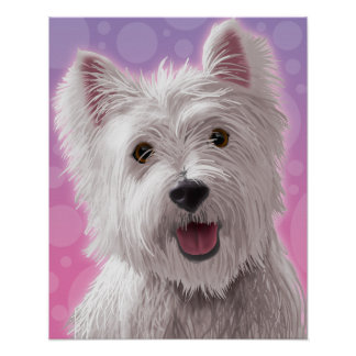 Westie With A Smile Poster