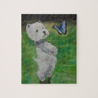 Westie with Butterfly Jigsaw Puzzle