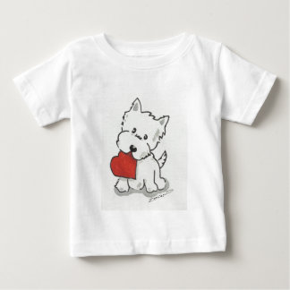 Westie With Heart Baby T-Shirt