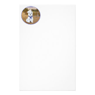 Westie with Sailboats Customized Stationery