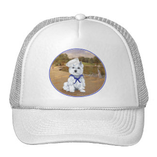 Westie with Sailboats Trucker Hat