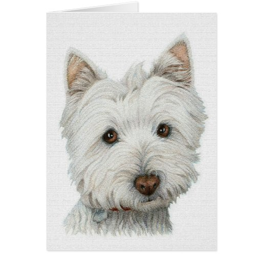 Westie with texture effect card