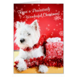 Westie Wonderful Christmas Wishes - Customize It! Greeting Cards
