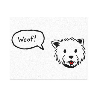 Westie Woof Canvas Wall Art