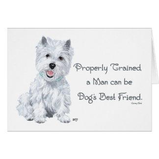 Westie Words of Wisdom Card