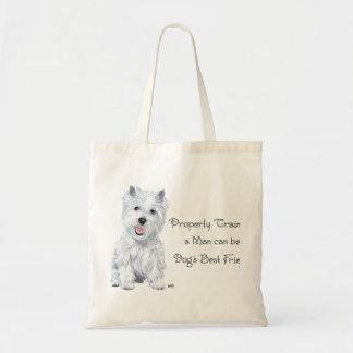 Westie Words of Wisdom Tote Bag