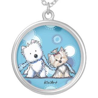 Westie & Yorkie Terriers Necklace