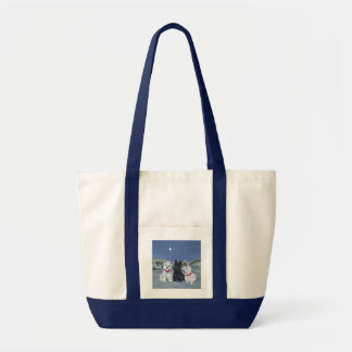 Westies and a Scottie Christmas Canvas Bag