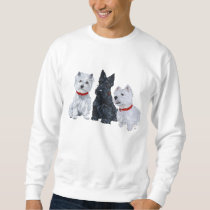 Westies and a Scottie Together Sweatshirt