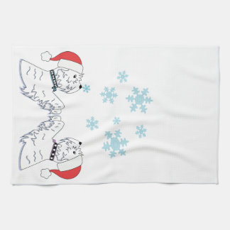 Westies and Snowflakes Hand Towel