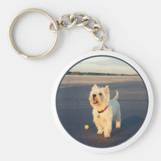 Westies and the Ocean Key Chains