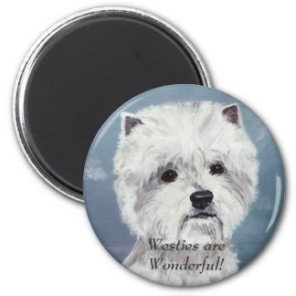 Westies are Wonderful! - Customized 2 Inch Round Magnet