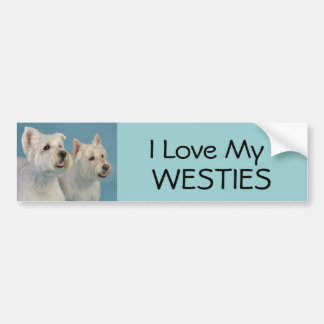 Westies Cards and Gifts Bumper Sticker