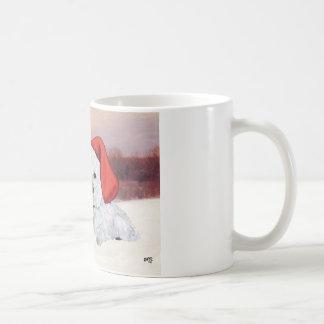 Westies en invierno taza